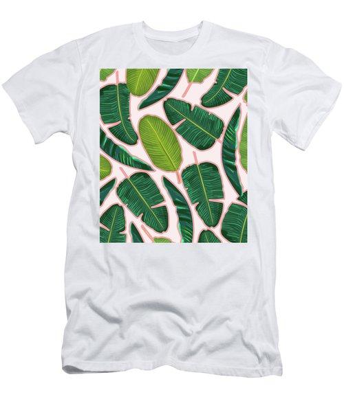 Banana Leaf Blush Men's T-Shirt (Athletic Fit)