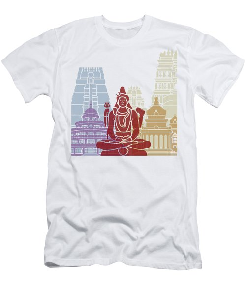 Bangalore Skyline Poster Men's T-Shirt (Athletic Fit)