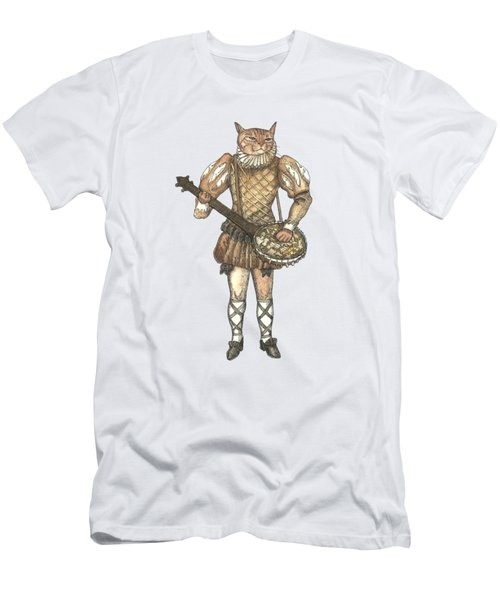 Banjo Cat Men's T-Shirt (Athletic Fit)