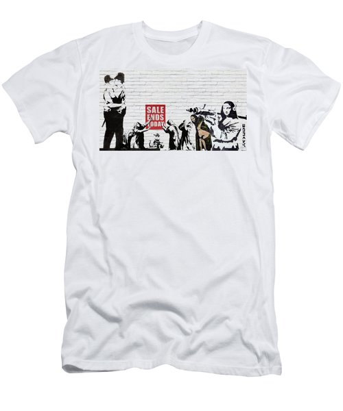 Banksy - Saints And Sinners   Men's T-Shirt (Athletic Fit)