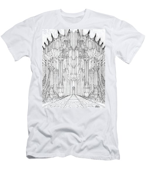Barad-dur Gate Study Men's T-Shirt (Slim Fit) by Curtiss Shaffer