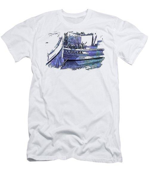 Barbara Berry Blues 3 Dimensional Men's T-Shirt (Athletic Fit)