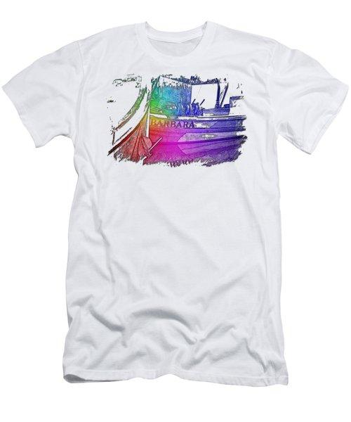 Barbara Cool Rainbow 3 Dimensional Men's T-Shirt (Athletic Fit)