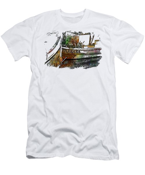 Barbara Muted Rainbow 3 Dimensional Men's T-Shirt (Athletic Fit)