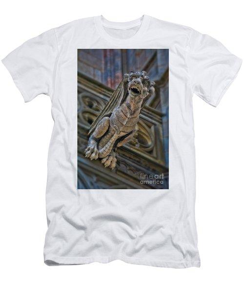Barcelona Dragon Gargoyle Men's T-Shirt (Athletic Fit)
