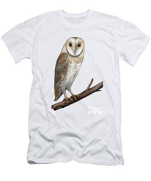 Barn Owl Screech Owl Tyto Alba - Effraie Des Clochers- Lechuza Comun- Tornuggla - Nationalpark Eifel Men's T-Shirt (Athletic Fit)