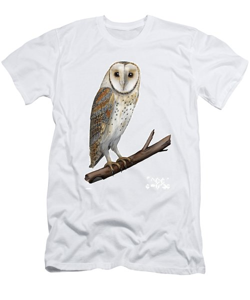 Barn Owl Screech Owl Tyto Alba - Effraie Des Clochers- Lechuza Comun- Tornuggla - Nationalpark Eifel Men's T-Shirt (Athletic Fit)