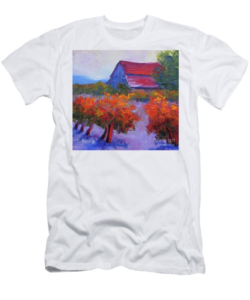 Barn Vineyard Autumn Men's T-Shirt (Athletic Fit)