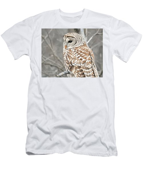 Barred Owl Close-up Men's T-Shirt (Slim Fit) by Kathy M Krause