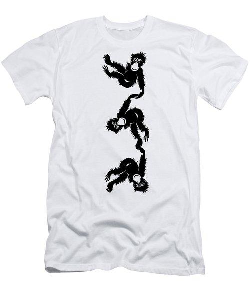 Barrel Full Of Monkeys T-shirt Men's T-Shirt (Slim Fit) by Edward Fielding