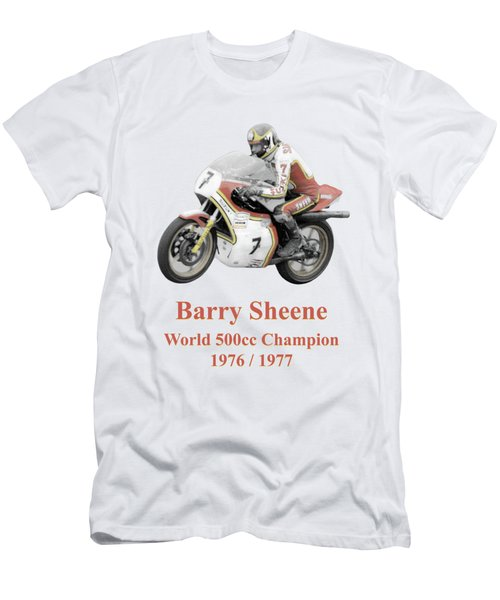 Barry Sheene 2, The Hand Tinted Version Men's T-Shirt (Athletic Fit)