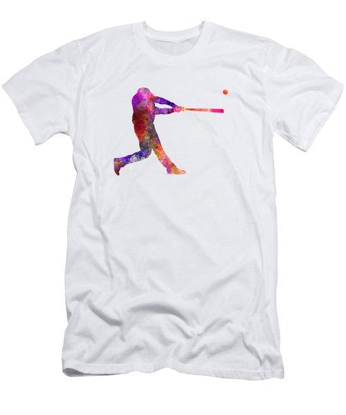 Baseball Player Hitting A Ball 01 Men's T-Shirt (Athletic Fit)