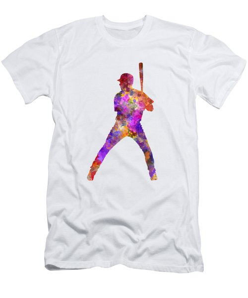 Baseball Player Waiting For A Ball Men's T-Shirt (Slim Fit) by Pablo Romero