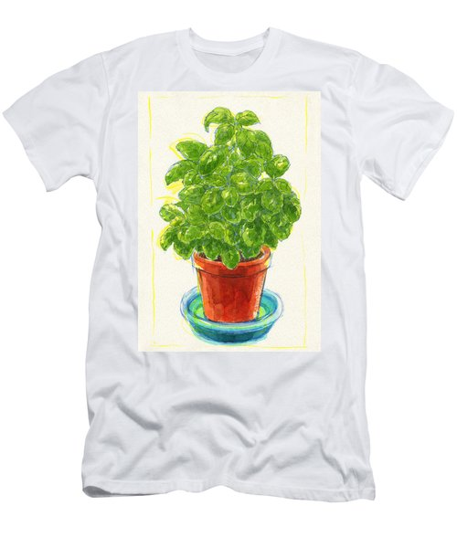 Men's T-Shirt (Athletic Fit) featuring the painting Basil by Judith Kunzle