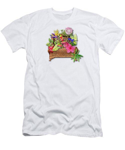 Basket Of Tropicals Men's T-Shirt (Slim Fit) by Larry Bishop
