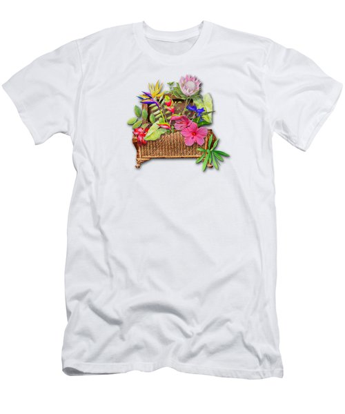 Basket Of Tropicals Men's T-Shirt (Athletic Fit)