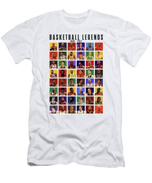 Basketball Legends Men's T-Shirt (Slim Fit) by Semih Yurdabak