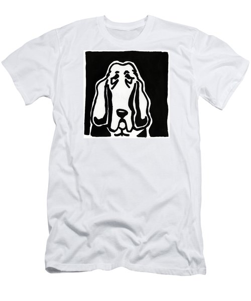 Basset Hound Ink Sketch Men's T-Shirt (Slim Fit) by Leanne WILKES