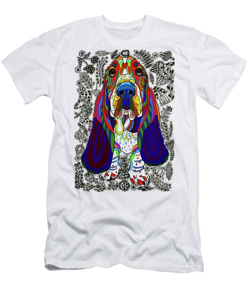 Basset Hound Men's T-Shirt (Athletic Fit)