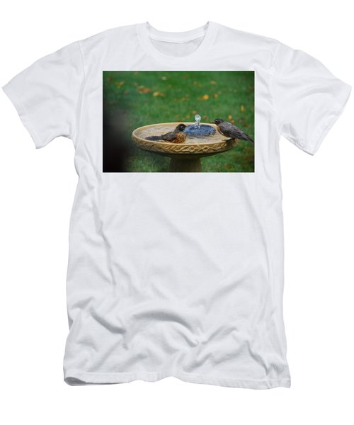 Bathtime In The Front Yard Men's T-Shirt (Athletic Fit)