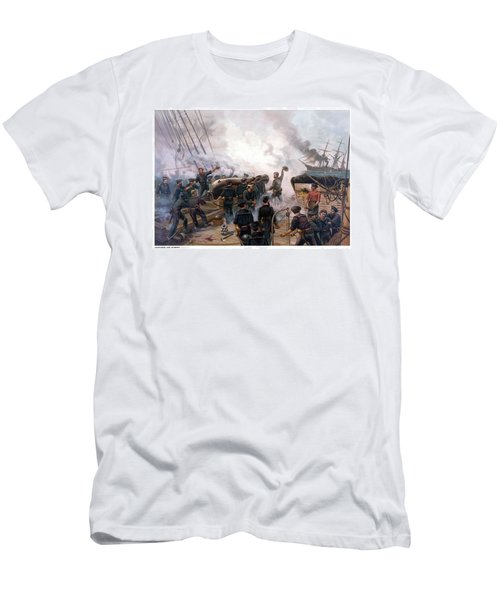 Battle Between Kearsarge And Alabama Men's T-Shirt (Athletic Fit)