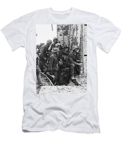 Battle Of Stalingrad  Nazi Infantry Street Fighting 1942 Men's T-Shirt (Athletic Fit)
