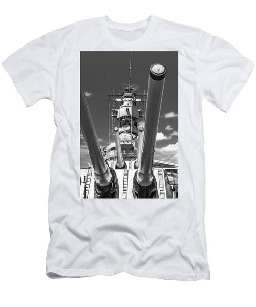 Men's T-Shirt (Athletic Fit) featuring the photograph Battleship Missouri by Colleen Coccia