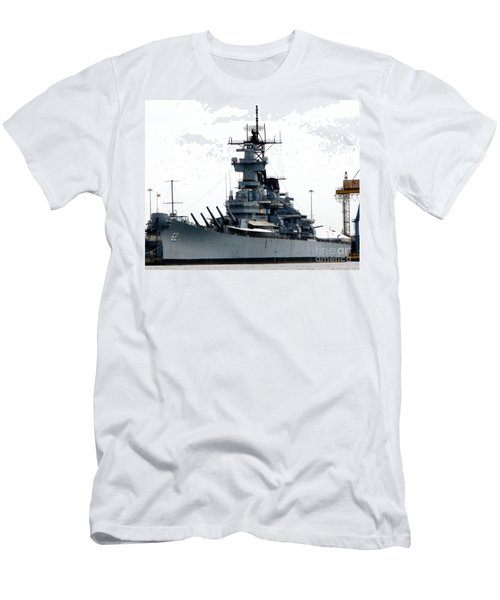 Battleship New Jersey Men's T-Shirt (Slim Fit) by Kevin Fortier