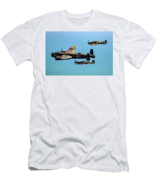 Bbmf Eastbourne Beachy Head Flypast Men's T-Shirt (Slim Fit) by Ken Brannen