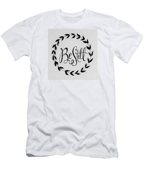 Be Still Men's T-Shirt (Slim Fit) by Elizabeth Robinette Tyndall