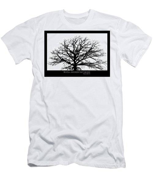 Be Still Tree Men's T-Shirt (Athletic Fit)