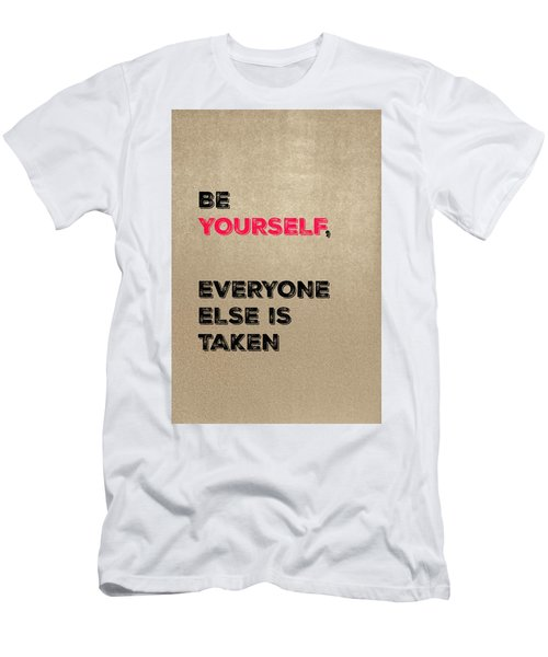 Be Yourself #3 Men's T-Shirt (Athletic Fit)