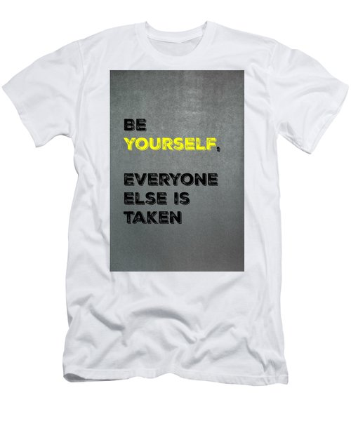 Be Yourself #4 Men's T-Shirt (Athletic Fit)