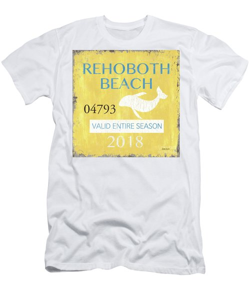 Beach Badge Rehoboth Beach Men's T-Shirt (Athletic Fit)
