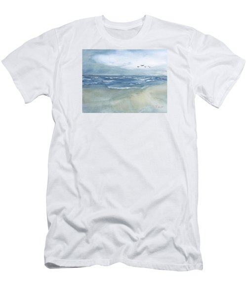 Beach Blue Men's T-Shirt (Slim Fit) by Frank Bright