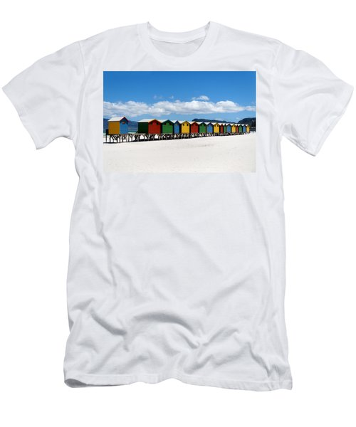 Beach Cabins  Men's T-Shirt (Athletic Fit)