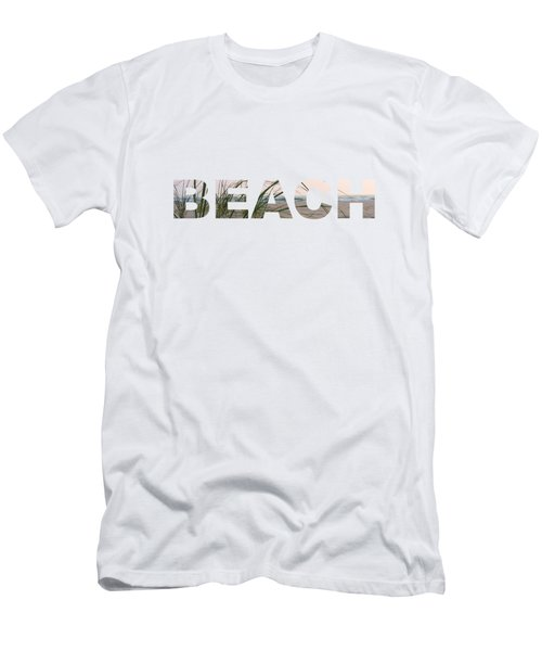 Beach Men's T-Shirt (Slim Fit)