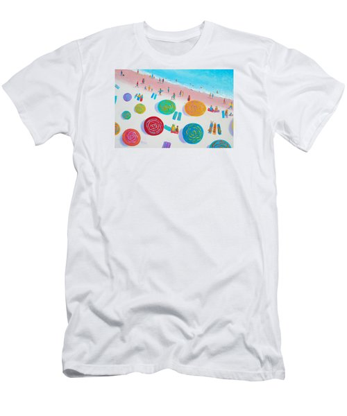 Beach Painting - A Walk In The Sun Men's T-Shirt (Athletic Fit)