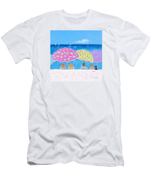 Beach Painting - Lazy Summer Days Men's T-Shirt (Athletic Fit)