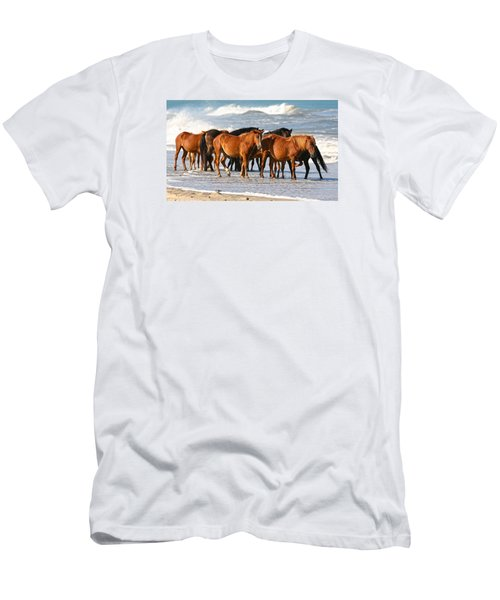 Beach Ponies Men's T-Shirt (Slim Fit) by Robert Och