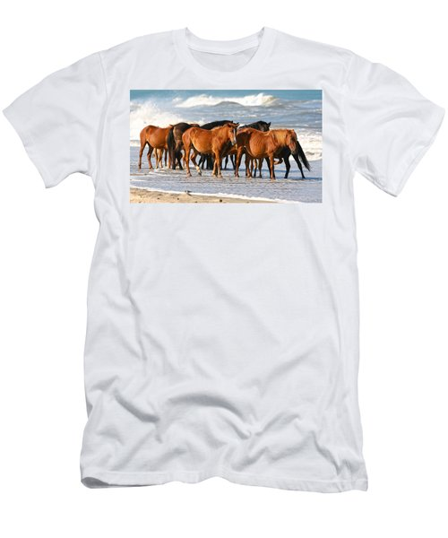 Beach Ponies Men's T-Shirt (Athletic Fit)