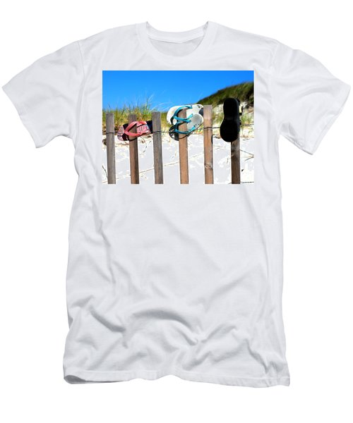 Beach Sandels  Men's T-Shirt (Athletic Fit)