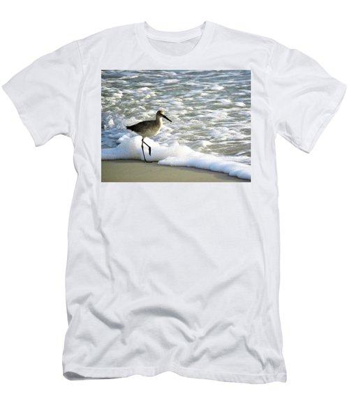 Beach Sandpiper Men's T-Shirt (Slim Fit) by Kathy Long