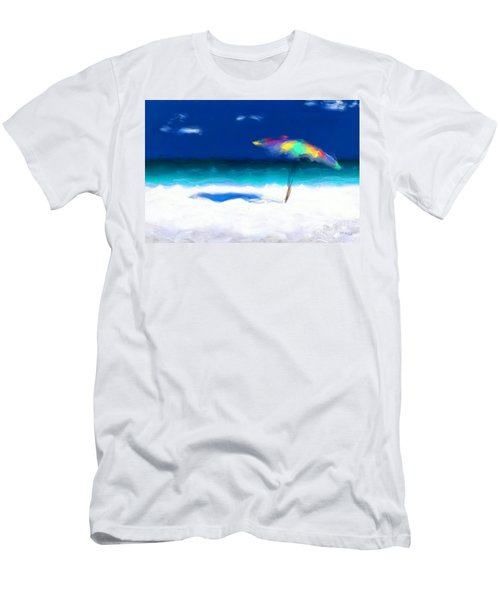 Beach Scene 4. Modern Decor Collection Men's T-Shirt (Slim Fit) by Mark Lawrence