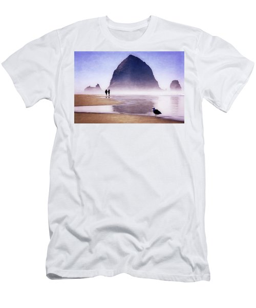Men's T-Shirt (Athletic Fit) featuring the photograph Beach Walk by Scott Kemper