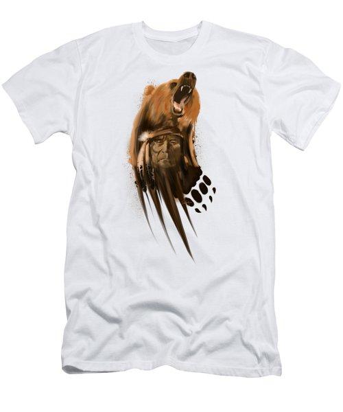 Bear Spirit  Men's T-Shirt (Athletic Fit)