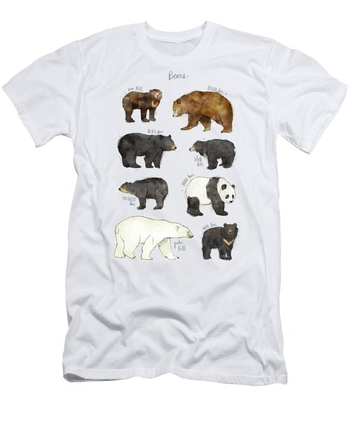 Bears Men's T-Shirt (Slim Fit) by Amy Hamilton