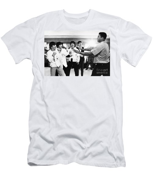 Beatles And Clay, 1964 Men's T-Shirt (Athletic Fit)