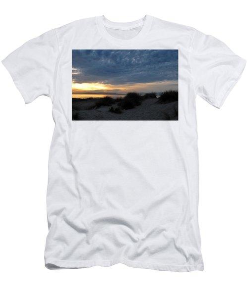 Beautiful Beach San Dunes Sunset And Clouds Men's T-Shirt (Slim Fit) by Matt Harang