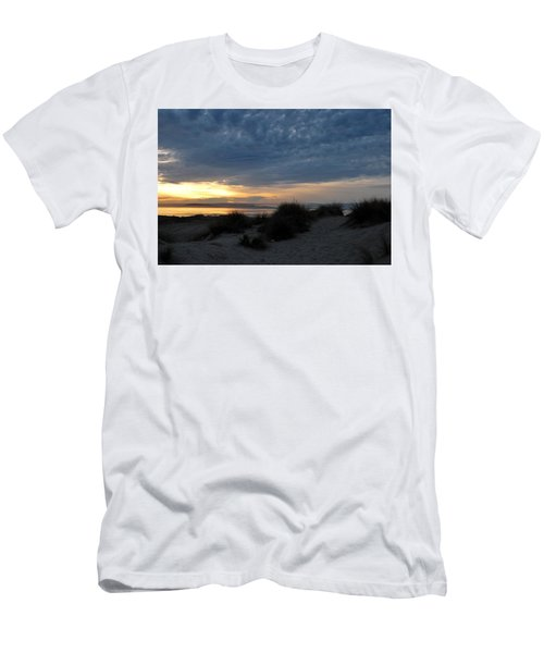 Beautiful Beach San Dunes Sunset And Clouds Men's T-Shirt (Athletic Fit)